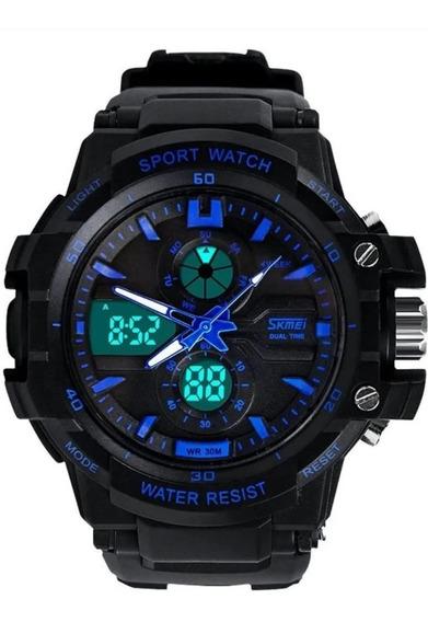 Relógio Militar Masculino Anadigi A Prova D´agua - 0990