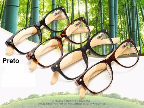 98aa9f37b Oculos Retro Haste Madeira - Óculos no Mercado Livre Brasil