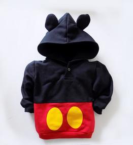 Agasalho Moletom Mouse (mickey) - Tamanho Até 6 Anos