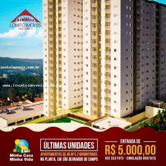 Apartamento Para Venda Em São Bernardo Do Campo, Santa Terezinha, 2 Dormitórios, 1 Banheiro, 1 Vaga - Elc01105