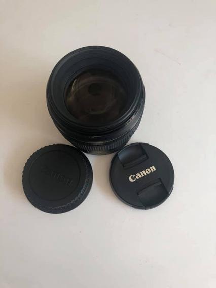 Lente Canon Ef 85mm 1:1.8 Frete Grátis 12x Sem Juros! Linda