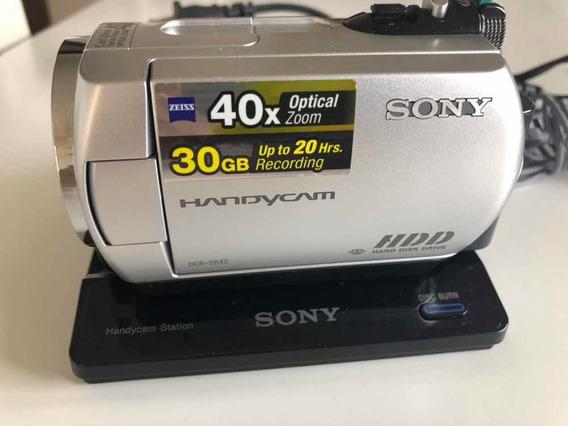 Câmera Handycam Sony Dcr-sr42 Pouco Usada Com Bolsa Original