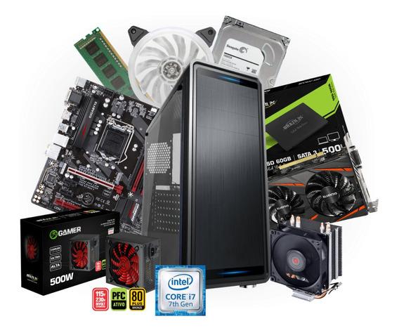 Mousepad + Pc Gamer Intel I7 8gb Ddr4 + Rx 560 4gb 1tb + Ssd