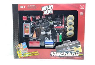 Diorama Taller Mecánico Hobby Gear Escala 1:24