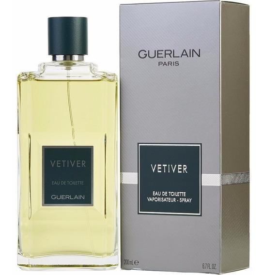 Perfume Vetiver Guerlain Masculino Edt 200ml Original Import