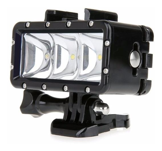 Iluminador A Prova D Água 3 Led Waterproof Para Gopro 3 4