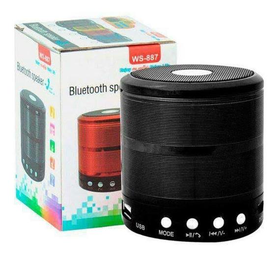 Mini Caixinha Som Bluetooth Mp3 Radio Fm Mi Sd Usb
