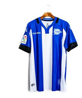 Camisa De Futebol Masculino Deportivo Alavés 2017/18 Kelme