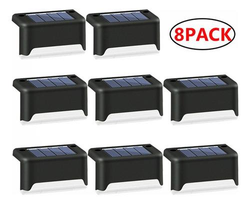 Imagen 1 de 8 de 8 Paquetes De Lámparas Solares De Escalera Jardín Patio Luz