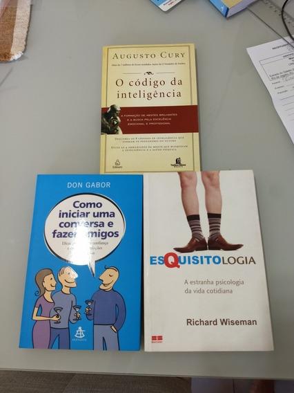 3 Livro Psicologia E Auto Ajuda Augusto Cury E Outros