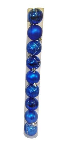 Adornos Navideños Tubo Bolas De Navidad 4cm X9 Unidades