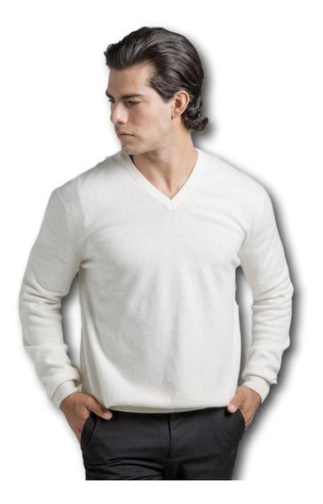 Blusa Suéter Masculino Branco Savannah Tricot 100% Algodão