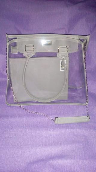 Bolsa Transparente Com Necessaire/pasta