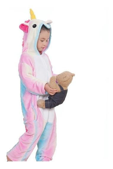Pijama Mameluco Unicornio Arcoiris Pastel Infantil Envío
