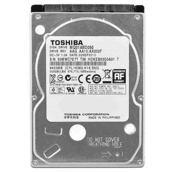 Hd Notebook 500gb Sata Toshiba