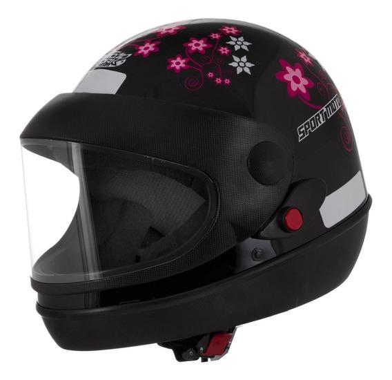 Capacete Feminino Automático Sport Moto For Girls