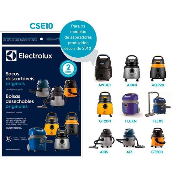 Saco Aspirador Electrolux A10 Aqp20 Gt200 Cse10 A13 Kit C/3