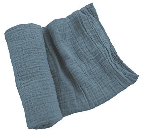 Manta de muselina 100/% algod/ón Swddling Blanket biol/ógico certificado 120 x 120 muselina para cuna de beb/é 4 unidades Mussole
