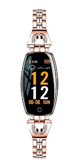 Reloj Pulsera Inteligente Smart Band Dama Diseño De Lujo