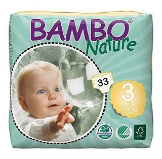 Pañales Piel Sensible Bambo Natur - Unidad a $2148