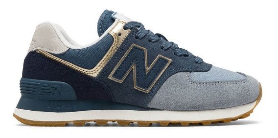 New Balance 574 Blue Metallic