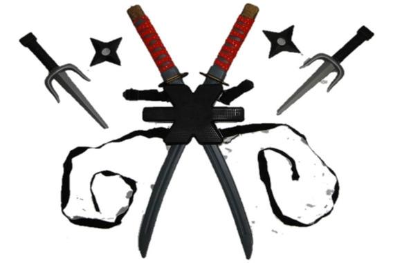 Deadpool Para Por Nas Costas Suporte 2 Espada Judo Boxe Tae