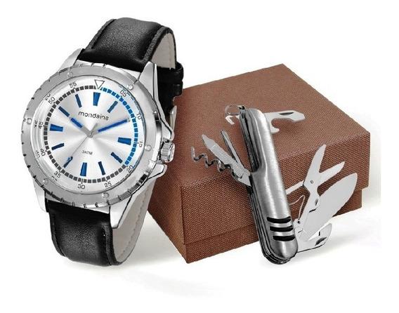 Relógio Mondaine Masculino Kit C/ Canivete 76677g0mvnh1k1