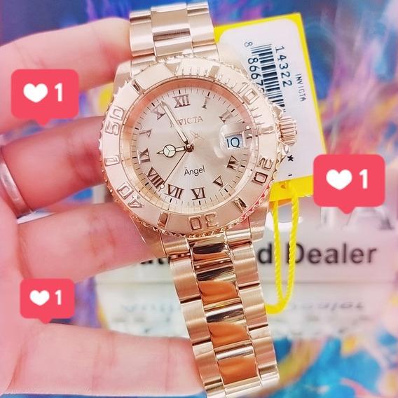 Relógio Invicta Feminino 14322 Angel - Aqui É 100% Original