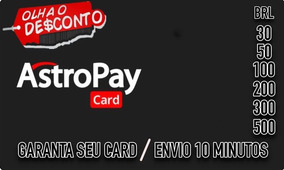 Astropay Card Promocao -primeira Compra- 30brl Peca Antes.