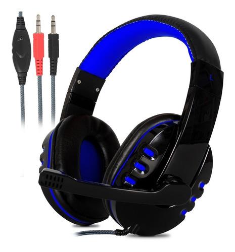 Headset Gamer Estéreo Bass Hd Microfone Pc Notebook Mac P2
