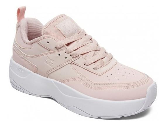 Zapatillas Dc Mod E Tribeka Plataforma Rosa Exclusivo Mujer