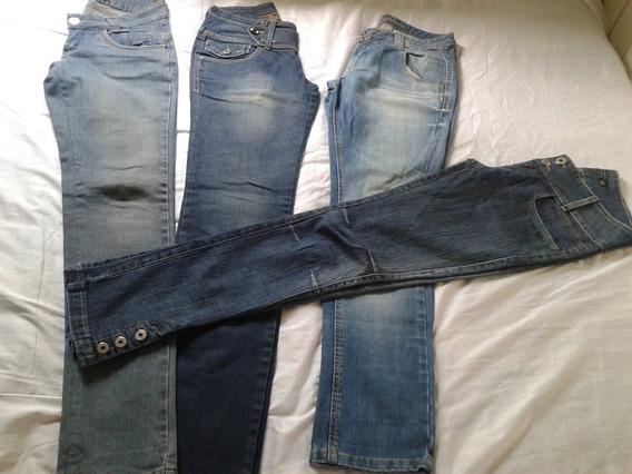 Lote 4 Lindas Calcas Jeans Feminina Tm 38 Semi Novas
