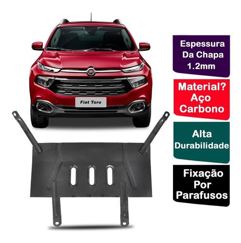 Protetor Carter Peito De Aço Fiat Toro 2016 17 18 19 20 2021