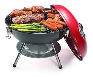 Parrilla Ahumadora Portatil Para Carbon Esfera Barbecue