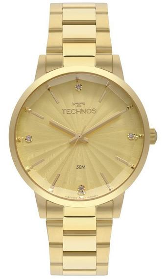 Relogio Feminino Technos Dourado Fashion 2036mkv4x