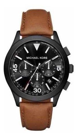 Relógio Mk 8450 Pulseira Couro Marrom Original