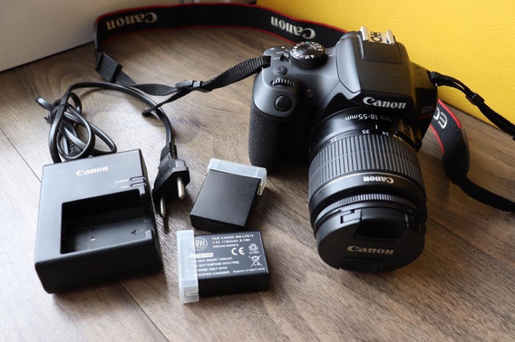 Câmera Canon Eos Rebel T6 (+ 2 Baterias Adicionais)