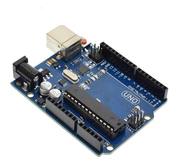 Arduino Uno Rev3 R3 Atmega328 Dip Com Cabo Usb 30cm
