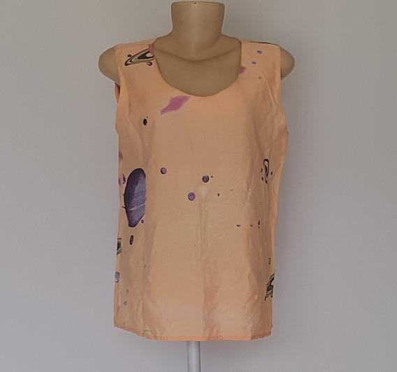 Blusa Social Camiseta Viscose 40 Pra Trabalho Verão