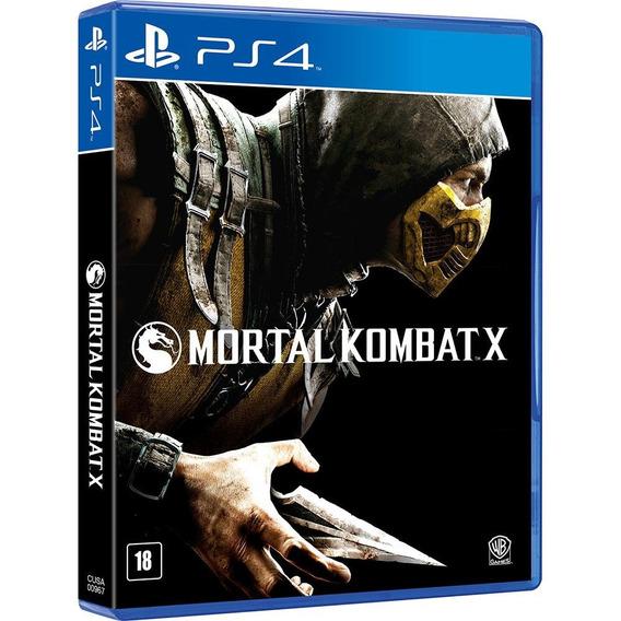 Mortal Kombat X Ps4 Mídia Física Lacrado Dublado Br Promoção