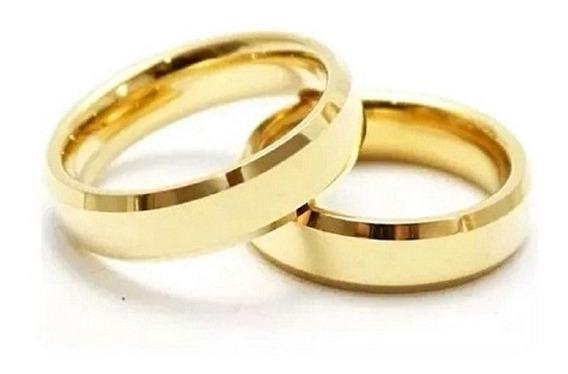 Par Alianças 4 Mm 4 Gr Ouro 18 K Casamento