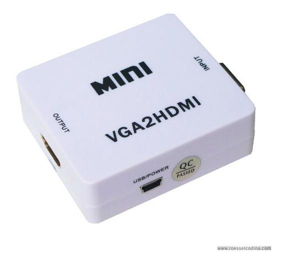 Conversor De Vga A Hdmi Con Audio Analógico A Digital *