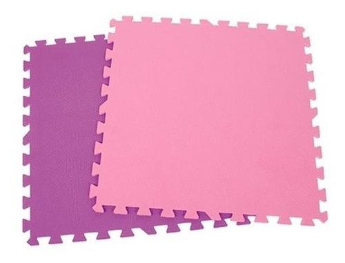 Imagen 1 de 4 de Pack 3 Alfombras Piso Goma Eva Liso Set 4 Cuadros 60x60cm