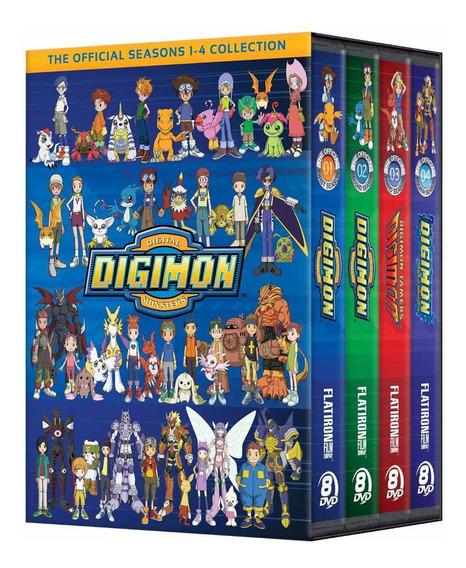 Dvd Digimon - 05 Temporadas Completas + O Filme