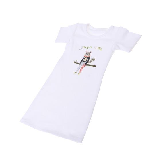 Camisa Larga De Mangas Cortas De Cuello Redondo Para 1/3