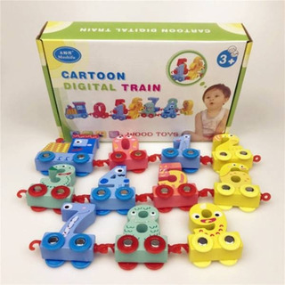 Tren Madera Pequeño Didáctico Números Niños