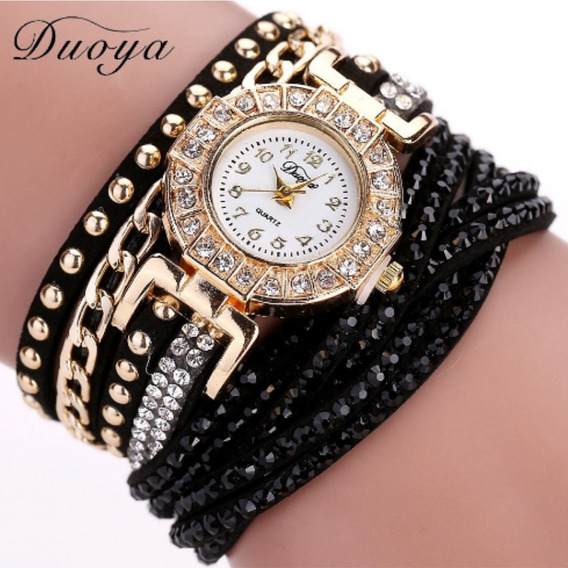 Relógio De Pulseira Feminino Bracelete Cristal
