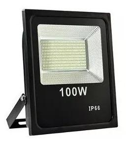 Refletor De Led Smd Holofote 100w Bivolt Branco Frio Ip66