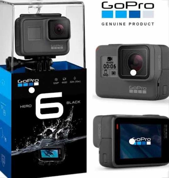 Câmera Digital Gopro Hero 6 Black C/12 Mp.grava4k+acessórios