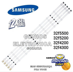 Kit C/5 Barra De Led Un32f4200 Un32f4300 Un32f5200 Un32f5500